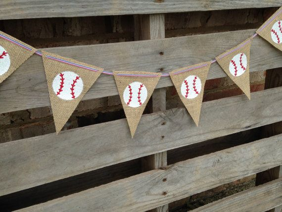 Baseball Decor/ Baseball Banner/ Burlap by NurturedSoulDesigns, $24.50