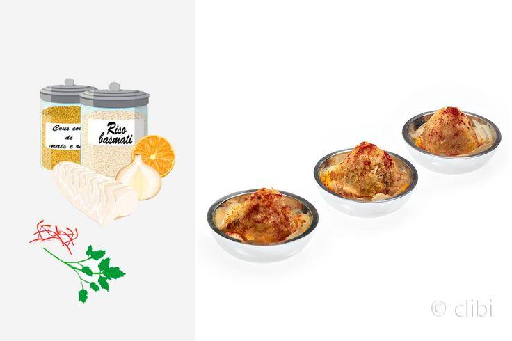 """POLPETTINE DI PESCE E COUS COUS La mia versione finger food del kibbit sumak, ricorda moltissimo i famosi """"bastoncini di pesce"""" ma non sono fritti e sono home made. http://clibi.net/2015/11/30/polpettine-di-pesce-e-cous-cous-senza-glutine/"""