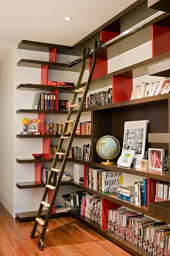 """Built in bookshelves without that """"built in"""" feeling..."""