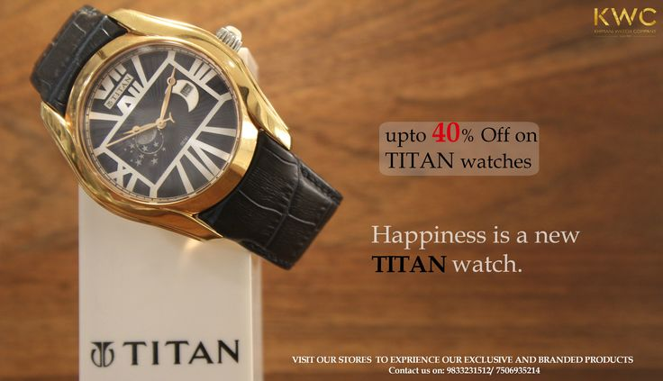 Happiness is a new titan watch. #titan #titanwatches #watchaddicted #watchmania #watchnerd # wristwatch #shoutout #followforfollow #KWC Contact us on: 9833231512/7506935214