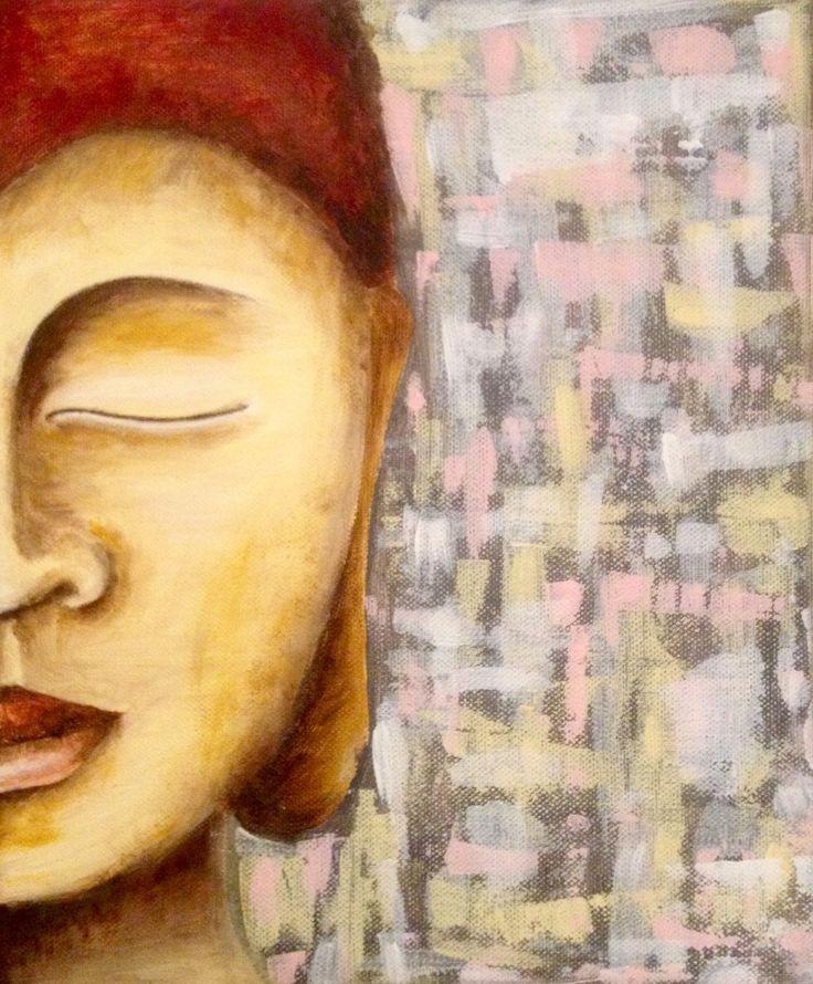 Budha,+moja+láska+Autorská+akvarelová+maľba+na+plátne,+ošetrené+ochranným+lakom+30+cm+x+25+cm