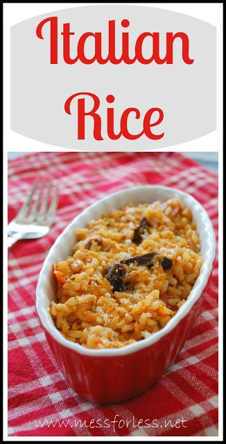 Easy Italian Rice - Just a few ingredients transform brown rice in an Italian feast.