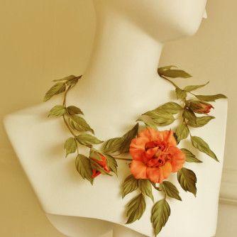 silk flower necklace 1