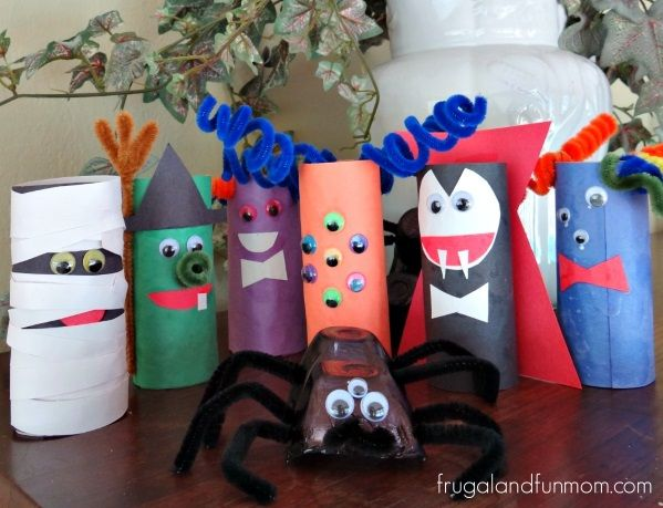 halloween crafts using brown paper bags