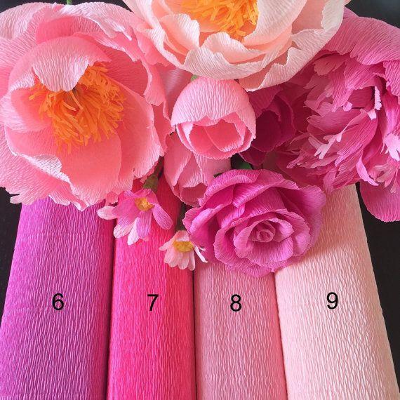 DIY Crepe Paper Flower by FlowerFilledLife on Etsy