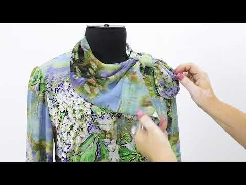 Как сделать декоративный галстук французская косынка с петлей для блузки с длинным рукавом - YouTube