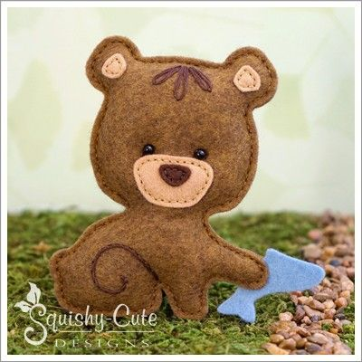 Baby Bear Hand Sewing Pattern Felt Bear Stuffed Animal