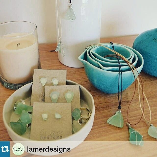 Thanks for the mention @lamerdesigns featuring our measuring bowls set - and how gorgeous are these sea glass earrings and pendants!! Have you purchased something from our store lately that you simply love! Tag us in your posts for a repost @evolvelifestyle - we love seeing what our happy customers do with their purchases!  #Repost @lamerdesigns  Only the most calming colours you have ever seen... All genuine sea glass (not fake or imported) - transformed into these pieces with absolute l o…