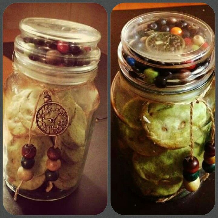 Make this with an old coffee jar some beads and,pendants and some twine! On of my favourite things I've made