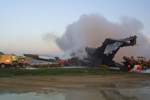 Payne Stewart Plane Crash in a field in South Dakota. Compare to 9/11 crash in Pennsylvania.