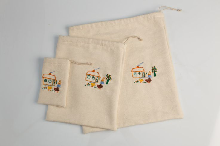 Treasure Collectors Set of 3 Sacks  #polaparysek #kids #embroidery #stiches #craft #handmade #tradition #freetime #onceuponatime #fairytale #storytelling