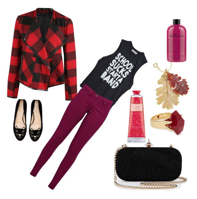 """Rode zijde"" by femke-jacobs on Polyvore featuring schoonheid, Charlotte Olympia, Dex, Great Plains, Lola Rose en philosophy"