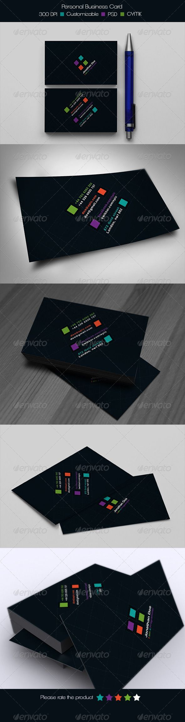 91 best print templates images on pinterest font logo print personal business card graphicriver reheart Image collections