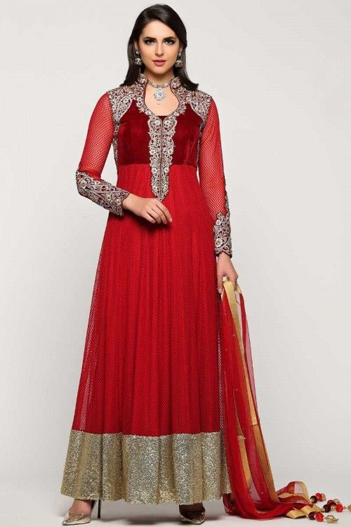 Buy latest, Anarkali churidar net cheap asian suits, Maroon resham embroidered andaaz wedding wear now in shop. Andaaz Fashion brings latest designer ethnic wear collection in UK   http://www.andaazfashion.co.uk/salwar-kameez/anarkali-suits/maroon-net-anarkali-churidar-suit-with-dupatta-1733.html