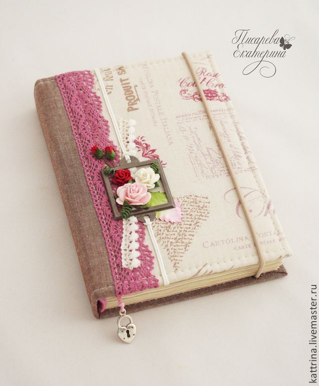 """Купить Блокнот """"Верона"""" - бледно-розовый, блокнот ручной работы, блокнот, ежедневник, Париж"""