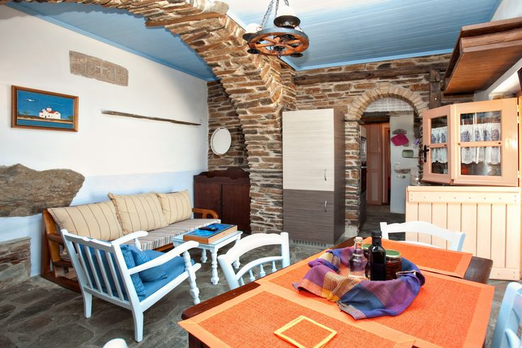 The Peach House in Tinos Habitart - A #holiday house made of stone and decorated with authentic antique furnishings http://www.tinos-habitart.gr/peach-house.php