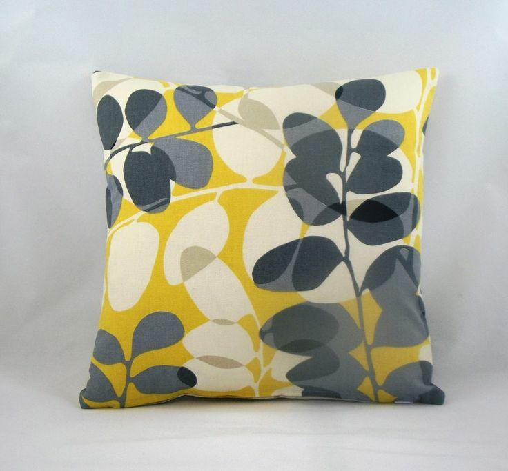 Harlequin Scion Melinki Lunaria Fabric Cushion Cover in Yellow & Grey