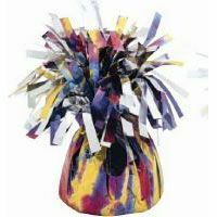 M4927 - Mardi Gras Balloon Weight Balloon Weight Mylar - Tie Dye. Please note: approx. 14 day delivery time.
