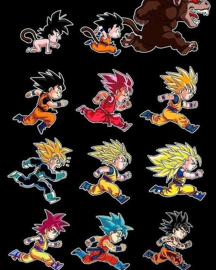 Goku Transformations ---ignore tags---------------- #dbz #dbs #dragonballz #dragonballsuper #anime #manga #goku #Vegeta #gogeta #vegeto #saiyan #gohan #krillin #trunks #battleofgods #funimation #futuretrunks #bulma #whis #beerus #hit #jiren #android18 #frieza #akiratoriyama #ssj4 #ssj3 #ssj #ssj2 #kakarot