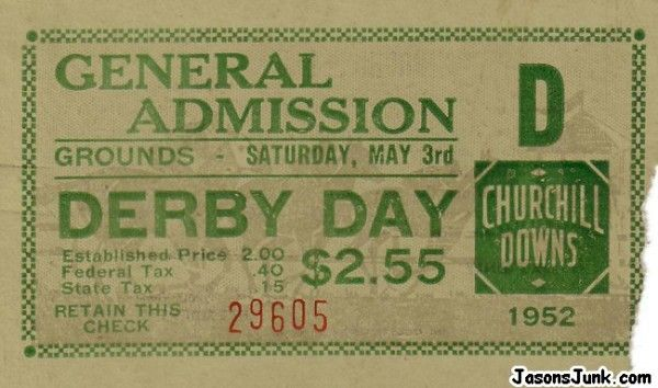 Derby Day Pass to be sent in the invite...
