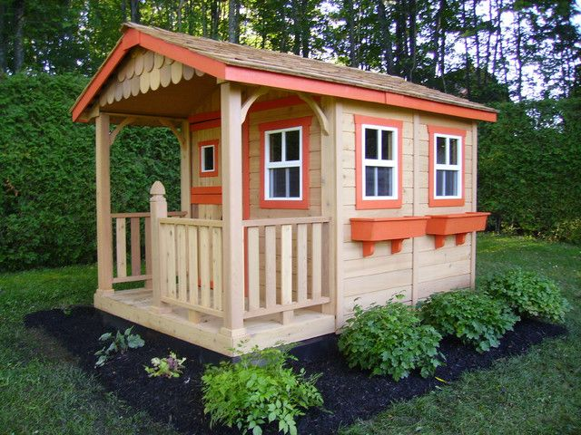 New wooden playhouse kits australia Wooden Outdoor Playhouse