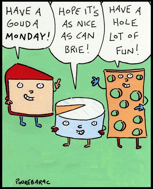Too cheesy? | Read CowTown #comics @ http://www.gocomics.com/cowtown/2016/02/08?utm_source=pinterest&utm_medium=socialmarketing&utm_campaign=social | #GoComics #webcomic #cheese