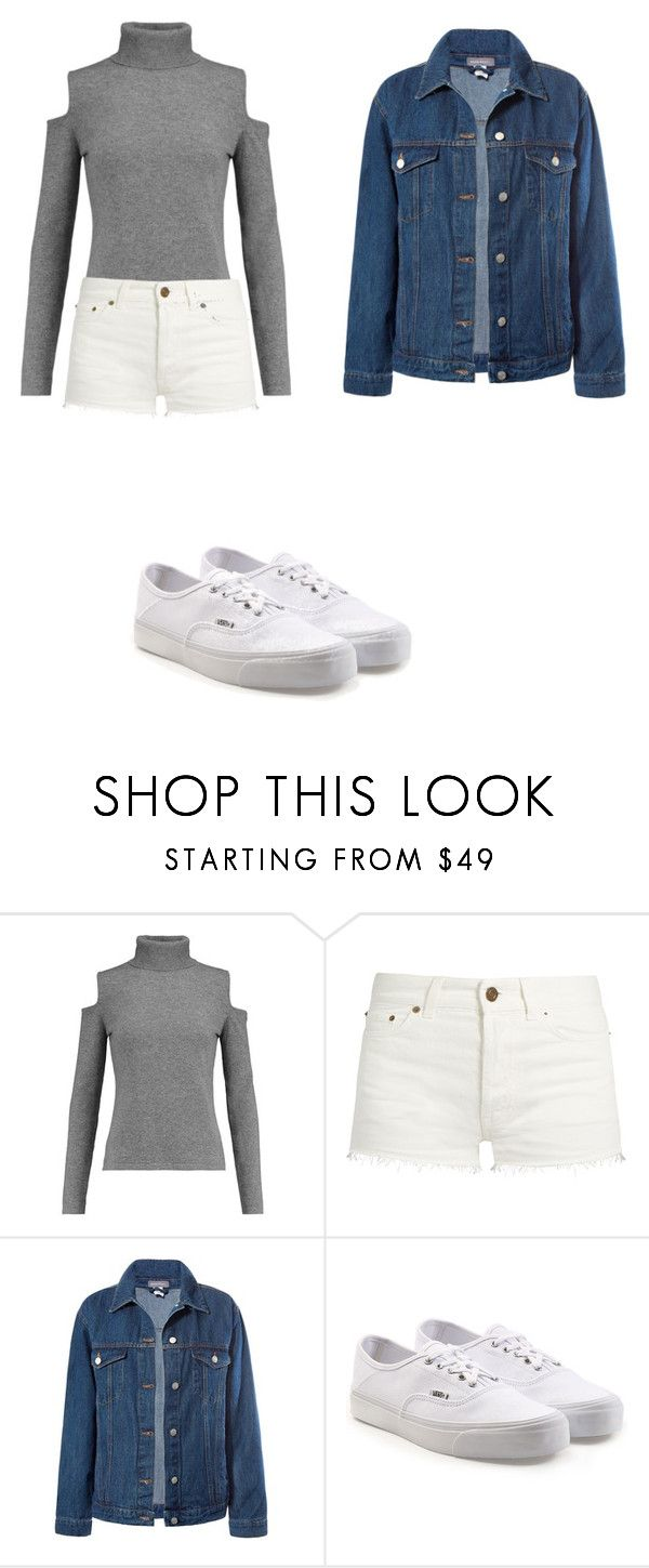 """""""Up and Runnin'"""" by skylarmuffin on Polyvore featuring N.Peal, Yves Saint Laurent, Sans Souci and Vans"""