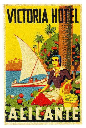 Spagna - Alicante - Victoria Hotel   Luggage Labels by b-effe   Flickr