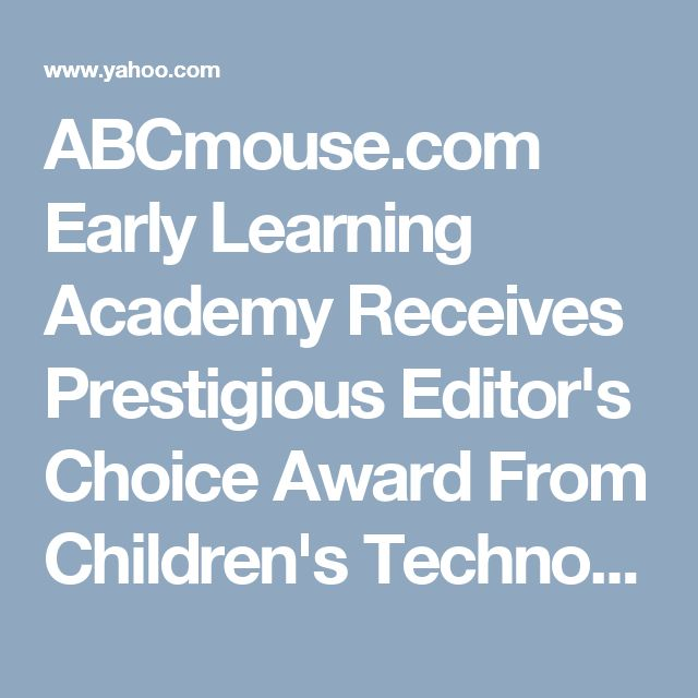 ABCmouse.com Early Learning Academy Receives Prestigious Editor's Choice Award From Children's Technology Review - Dave Hendry