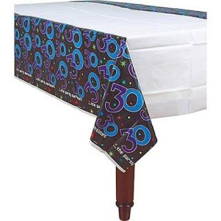 A579794 - Tablecover 30th Tablecover 30th The Party Continues (137cm x 259cm) Plastic Please note: approx. 14 day delivery