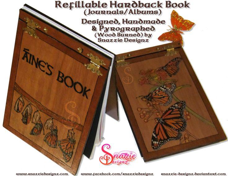 Refillable Hardback Butterfly Book/Journal by snazzie-designz