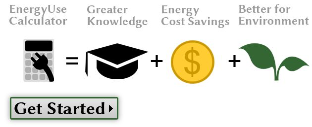 Energy Use Calculator.  Calculate electrical usage.