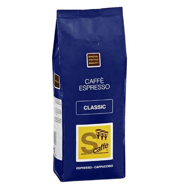 Caffé Classic Espresso Schreyögg Kaffee ganze Bohnen vollmundig, kräftige Espressobohnen diese sind rassig, dunkel geröstet. Das starke Aroma von Café Classic ganzer Kaffeebohnen eignen sich perfekt für einen klassischen Espresso, aber auch für den Milchkaffee oder Cappuccino.