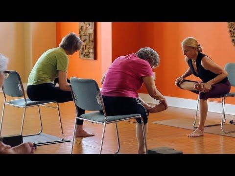 45 Minute Chair Yoga Class - Kate Taylor - YouTube