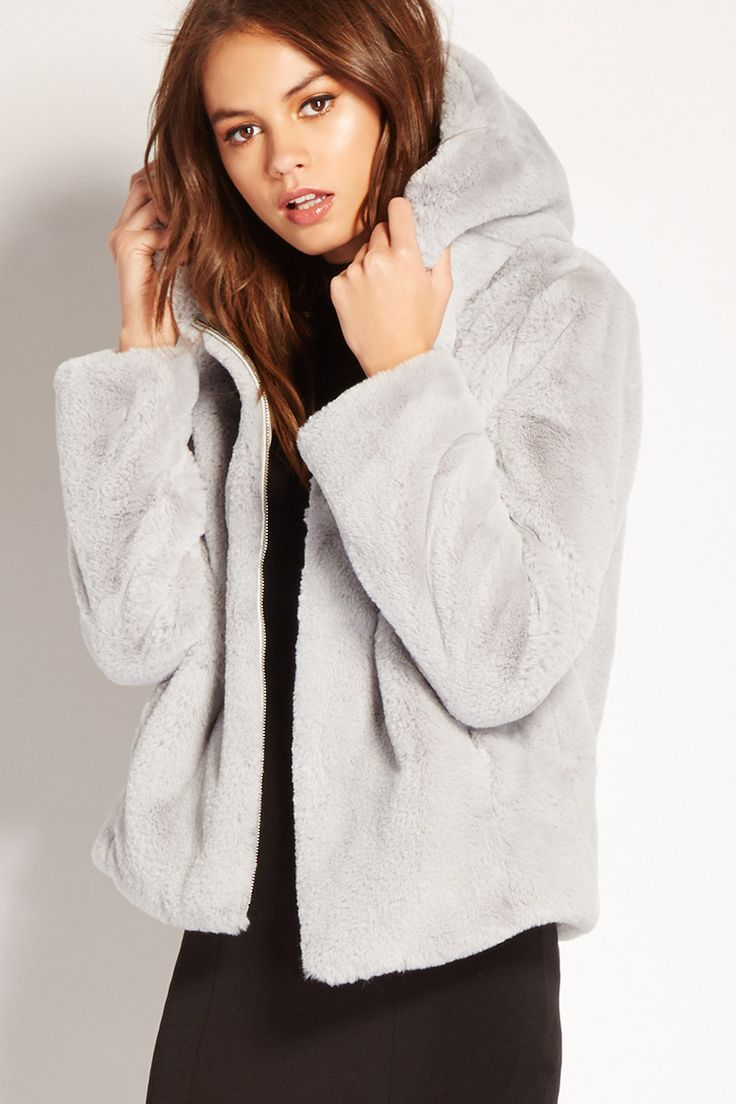 Best 25  Faux fur hooded jacket ideas on Pinterest | Winter ...