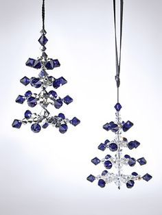 how to make a christmas tree out of beads