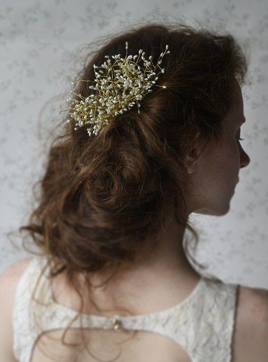 bridal comb  pearls on wires   http://www.lucjazajac.com https://www.facebook.com/lucjazajacatelier