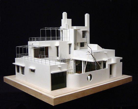 Reinanzaka House, Tokyo, Japan (1924-26) by Antonin Raymond, model