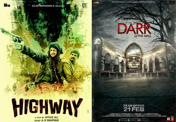 Which movie are you going to watch? 1) Highway 2) Darr @ The Mall