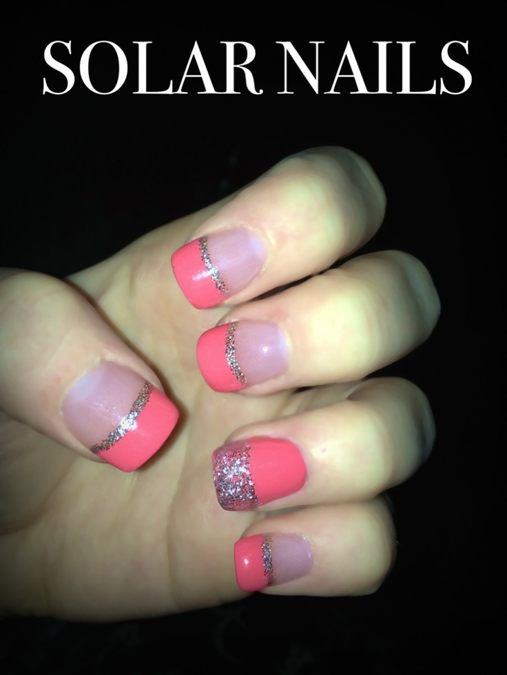 21 best nails images on pinterest solar nails solar nail cute pink and silver french tip solar nails star nails prinsesfo Choice Image