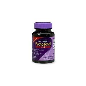 Natrol Pycnogenol 50mg, 60 Capsules    Helps fade brown spots.  50mg/day - 2x day