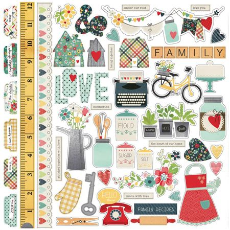 Grap/pa Scapbooking - Homespun - Stickers