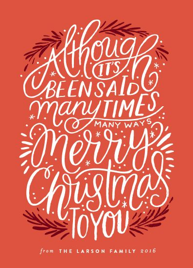 non-photo holiday cards - Many Times, Many Ways by Alethea and Ruth