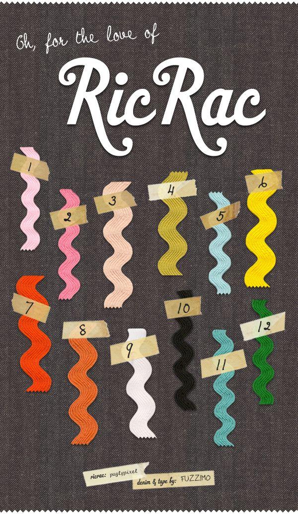 Colorful RicRac RibbonsBlog Bling, Free Ric, Pugs Pixel, Colors Ricrac, Digital Scrapbook, Rick Racks, Ricrac Ribbons, Ric Rac, Blog Ideas