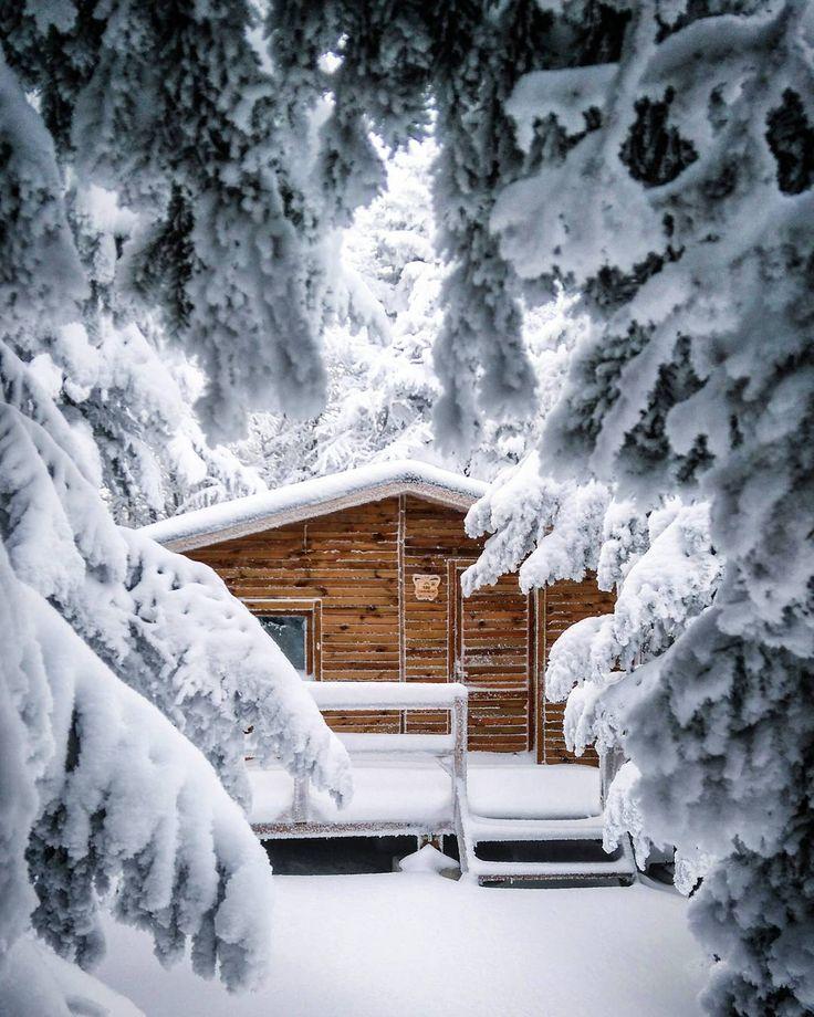 Winter Cabin  #Uludağ (Ulu Mountain) #Bursa #Turkey - Photo by moondin