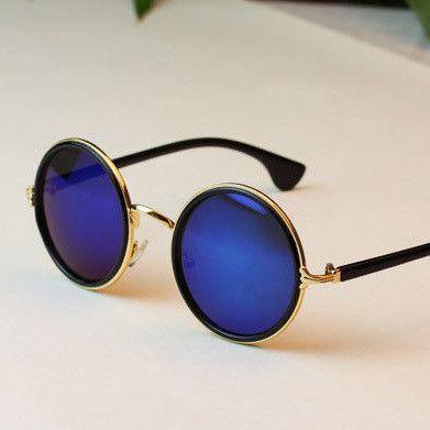 Item Type: Eyewear Eyewear Type: Sunglasses Department Name: Adult Gender: Women Style: Round Lenses Optical Attribute: UV400 Frame Material: Plastic Frame Color: Multi Lens Width: 5.2 cm Lens Height: