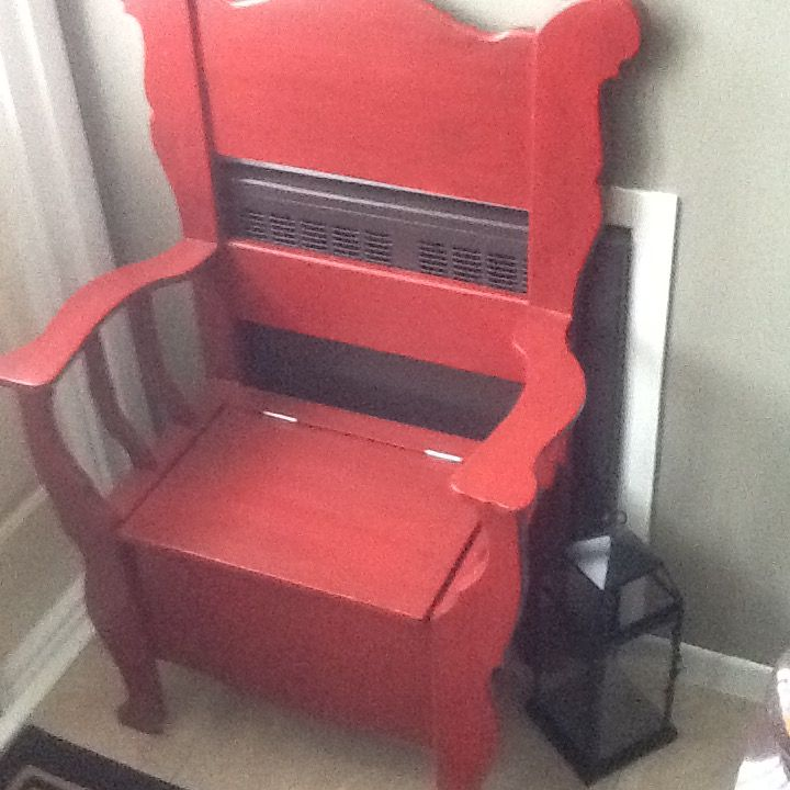 Entry chair Reduce by 2 feet, narrower.