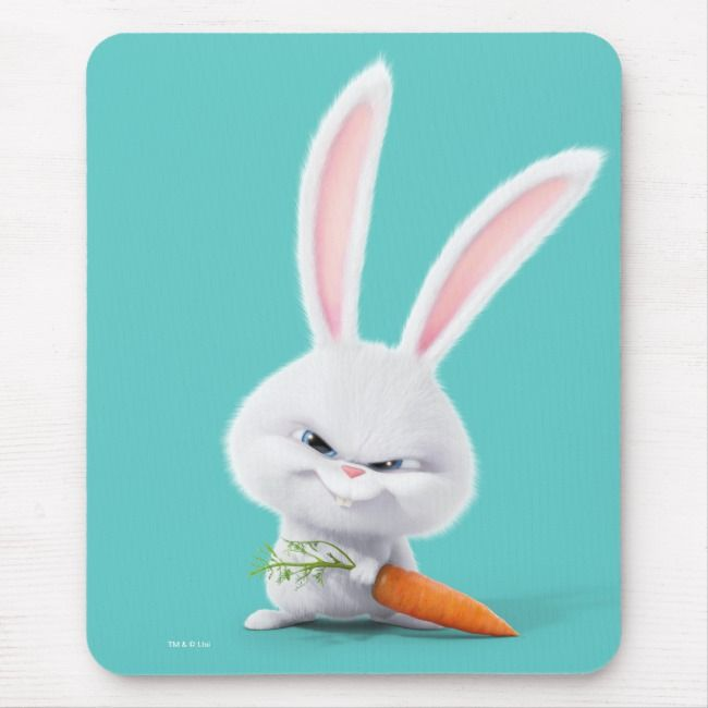 Secret Life Of Pets Insanely Cute Snowball Mouse Pad Zazzle Com Secret Life Of Pets Pets Movie Pet Bunny