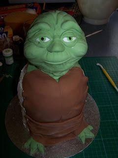 SOCAKE: Yoda cake instructions