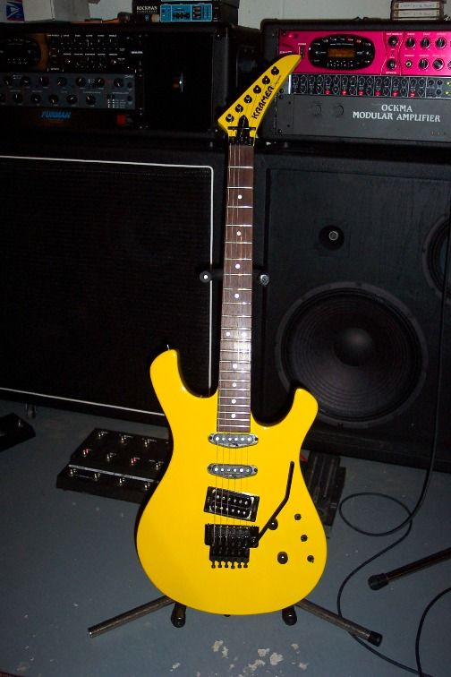 KRAMER PAUL DEAN yellow harvest (limited edition). the best guitar I ever had. I hope the bastard who stole it, get a big ol can of karma..in the face...with the can